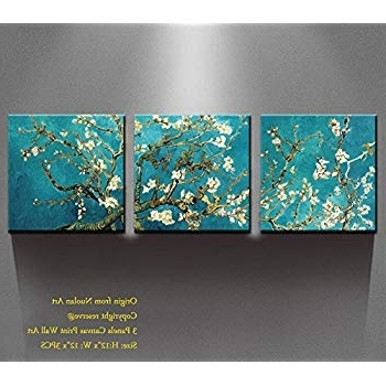 Well Liked Amazon: Canvas Wall Art – Almond Blossoms Van Gogh Modern Art Throughout Almond Blossoms Vincent Van Gogh Wall Art (View 15 of 15)