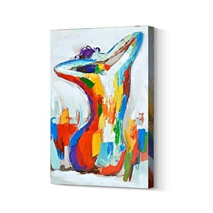 Well Liked Amazon: Crescent Art Contemporary Abstract Nude Naked Sexy Women In Abstract Body Wall Art (View 15 of 15)