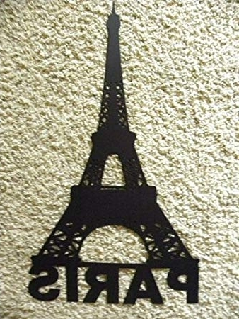 Well Liked Amazon: Eiffel Tower With Paris Word Metal Wall Art Home Decor Throughout Metal Eiffel Tower Wall Art (View 2 of 15)