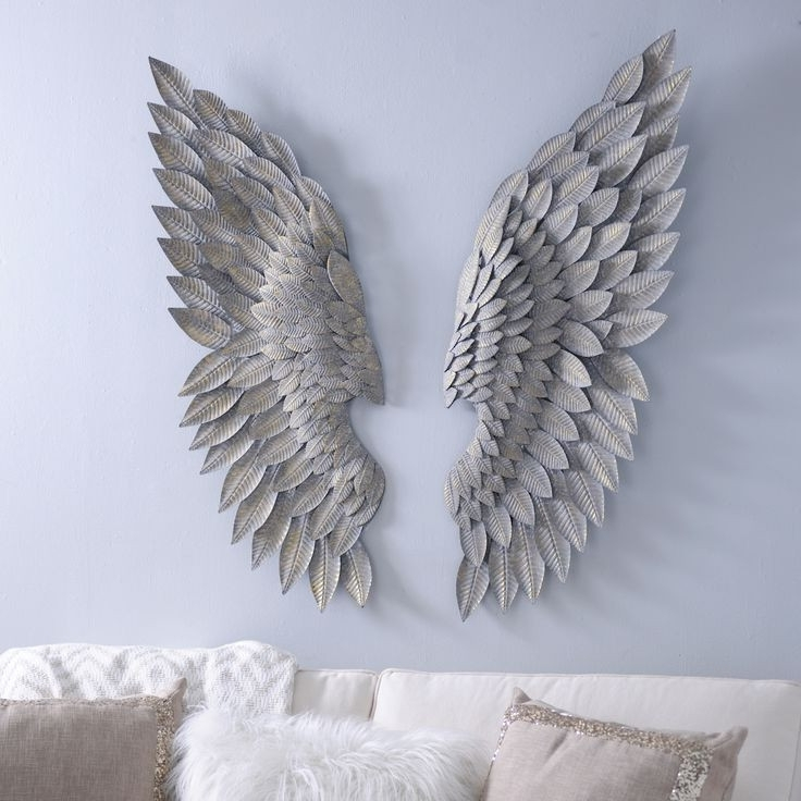 Well Liked Angel Wings Sculpture Plaque Wall Art In Brushed Gold Angel Wing Plaques Wings Wall Decor And Brilliant Art (View 14 of 15)