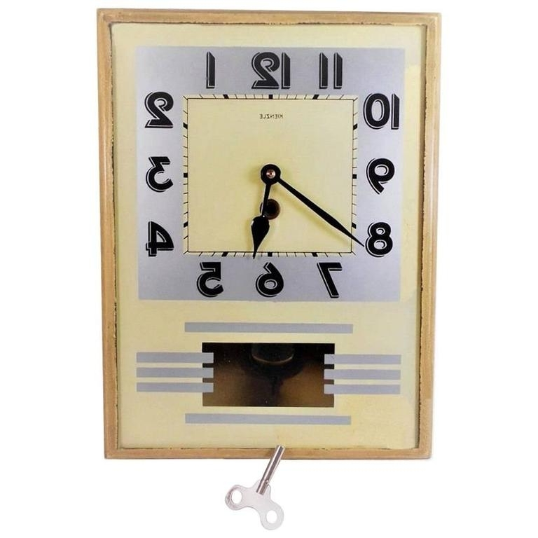 Well Liked Art Deco Wall Clockkienzle At 1Stdibs For Art Deco Wall Clocks (View 15 of 15)