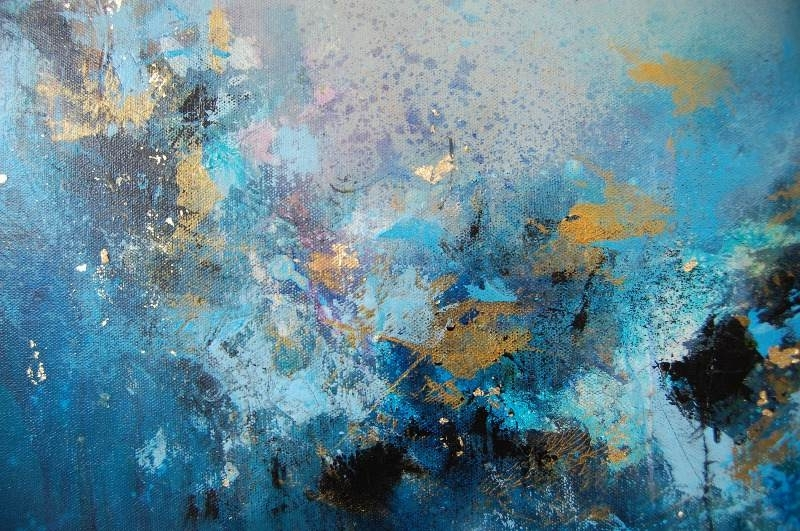 Well Liked Blue Abstract Wall Art With Regard To Large Canvas Art Abstract Canvas Wall Art Large Wall Art Blue (View 14 of 15)