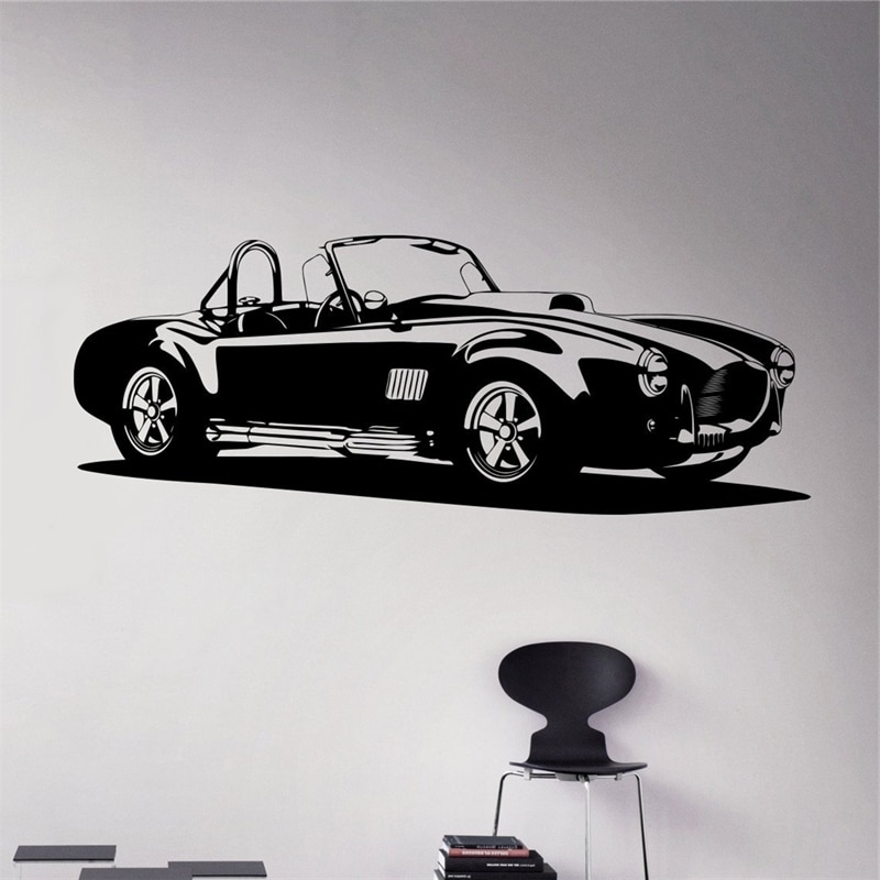 Well Liked Classic Car Wall Art Regarding Classic Car Wall Decal Racing Car Vinyl Sticker Racing Car Home (View 14 of 15)