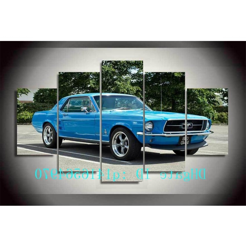 Well Liked Classic Car Wall Art With 2018 Ford Mustang Muscle Car,canvas Prints Wall Art Oil Painting (View 15 of 15)