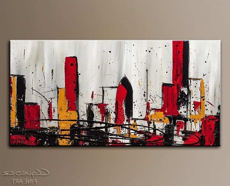 Well Liked Contemporary Abstract Wall Art With Regard To Abstract City Painting Awesome Modern City Abstract Art Abstract (View 15 of 15)