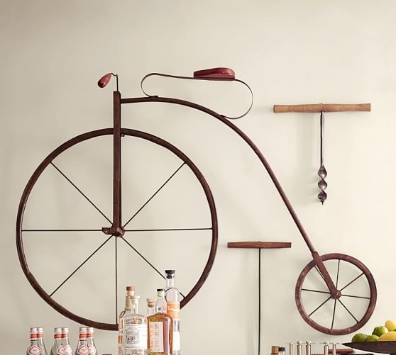Well Liked Enjoyable Inspiration Bike Wall Art Home Decoration Ideas High Wheel Within Bicycle Wall Art Decor (View 3 of 15)