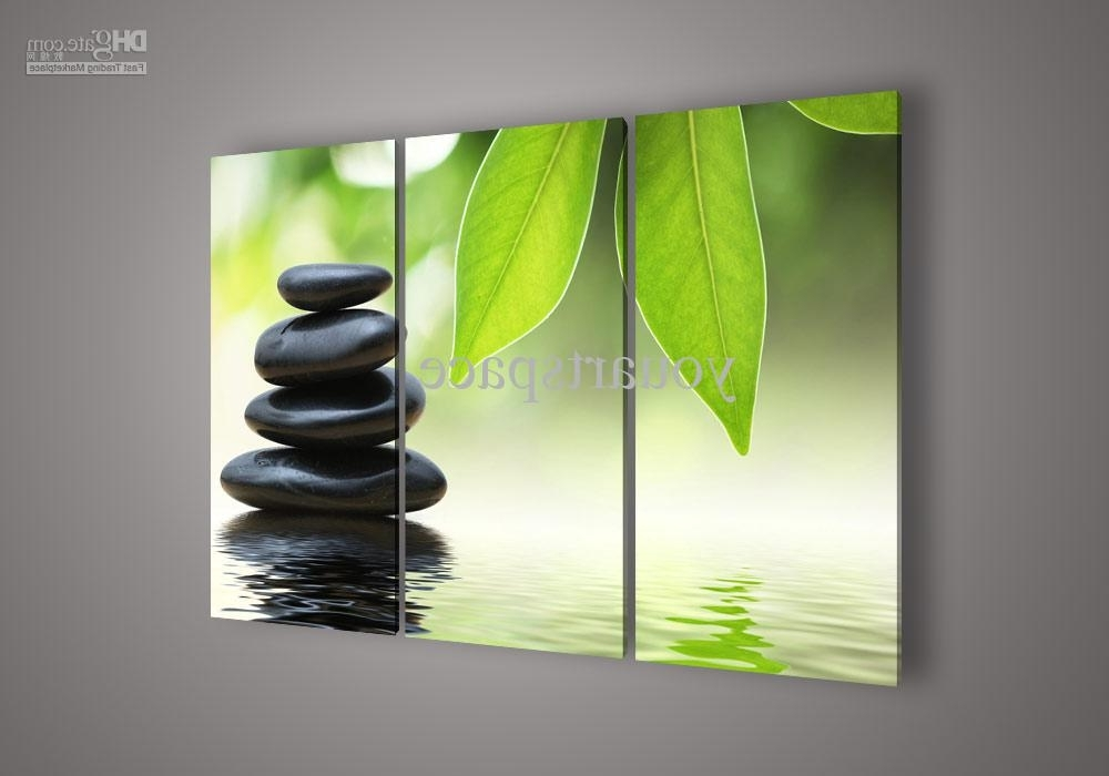 Well Liked Feng Shui Wall Art For 2018 Wall Art Botanical Feng Shui Green Picture Oil Painting On (View 7 of 15)