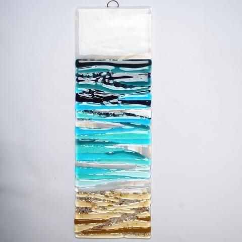 Well Liked Fused Glass Wall Art Hanging Intended For Fused Glass Art – Seascape (View 4 of 15)