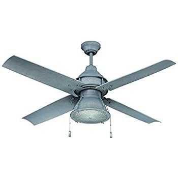 Well Liked Galvanized Outdoor Ceiling Fans Inside Craftmade Outdoor Ceiling Fan With Cfl Light Par52Agv4 Port Arbor  (View 15 of 15)
