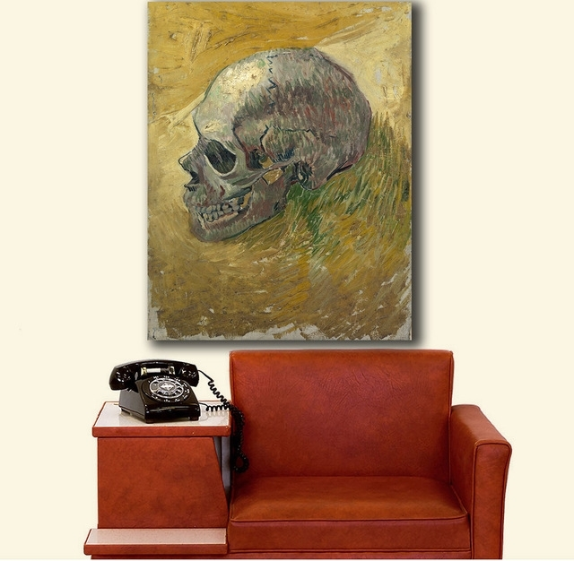 Well Liked Hd Wall Art Skull 2Vincent Van Gogh Canvas Painting For Living With Regard To Vincent Van Gogh Wall Art (View 15 of 15)