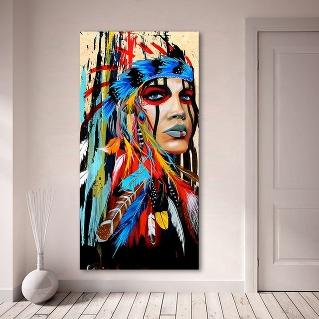 Well Liked India Abstract Wall Art In Xdr30 India Tatoo Girl Graffiti Street Wall Art Abstract Modern (View 15 of 15)