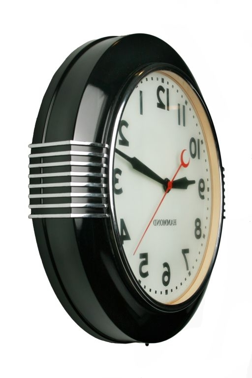 Well Liked Large Art Deco Wall Clocks Throughout Large Art Deco Illuminated Hammond Sychronous Wall Clock (View 8 of 15)
