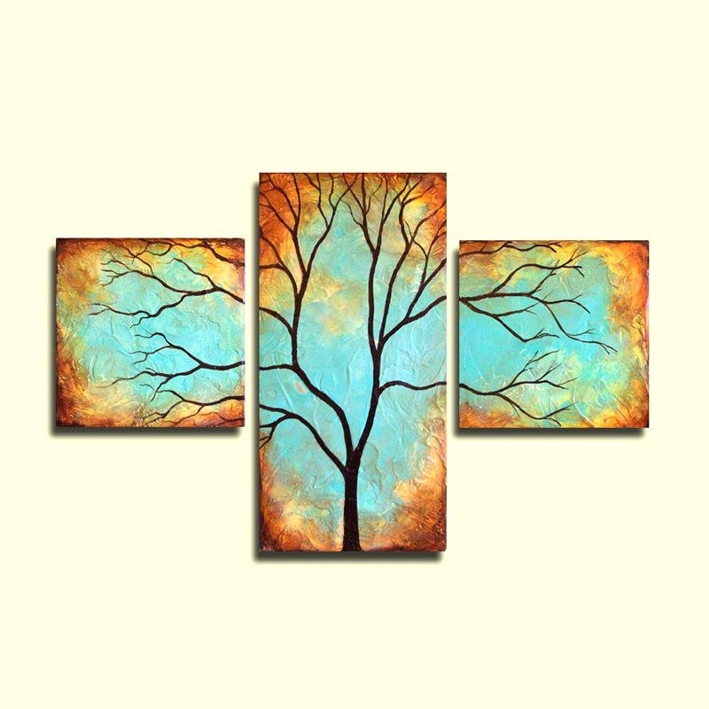 Well Liked Large Triptych Wall Art Pertaining To Large Triptych Wall Art Triptych Wall Art Tree Wall Art Patina (View 14 of 15)
