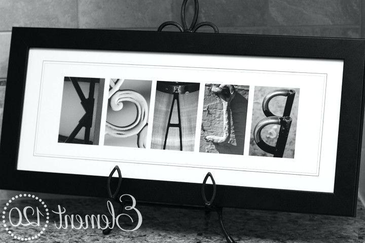 Well Liked Last Name Framed Wall Art With Personalized Last Name Wall Art Alphabet Letter Photography Framed (View 1 of 15)