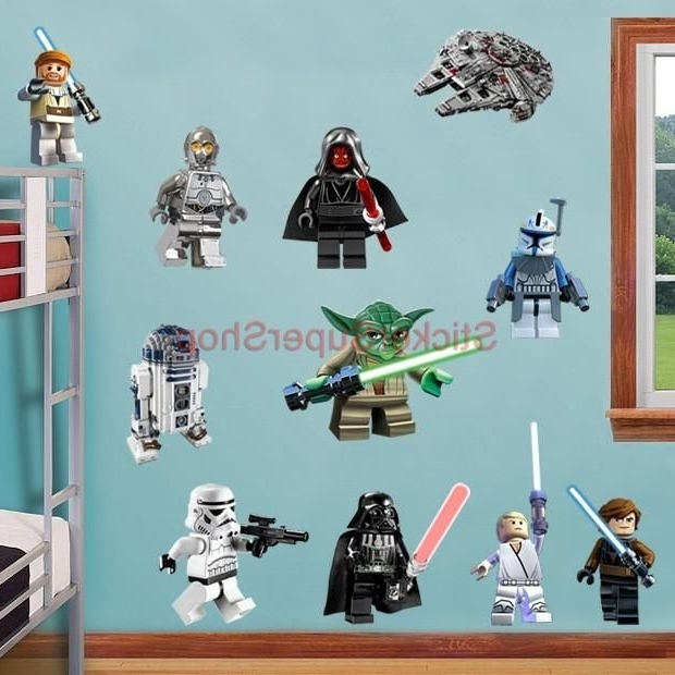 Well Liked Lego Star Wars 11 Characters Decal Removable Wall Sticker Home Decor Pertaining To Lego Star Wars Wall Art (View 15 of 15)