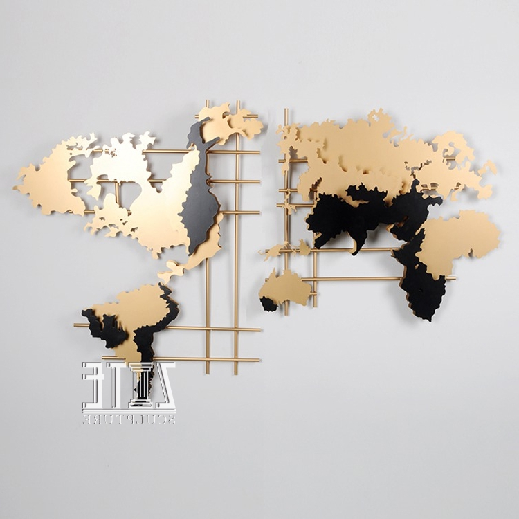Well Liked Maps For Wall Art Within Metal Steel World Map Wall Art Decor – Buy Wall Art,metal Wall Art (View 14 of 15)
