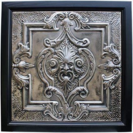 Well Liked Metal Framed Wall Art In Amazon: Large Metal Framed Tin Ceiling Tile Wall Art – North (View 13 of 15)