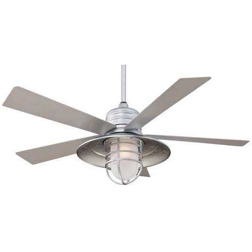 Well Liked Minka Aire Rainman Galvanized 54 Inch Blade Indoor/outdoor Ceiling Regarding Outdoor Ceiling Fans With Galvanized Blades (View 15 of 15)