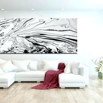 Well Liked Modern Large Wall Art Original Black And White Art Abstract Oil In Large Black And White Wall Art (View 15 of 15)