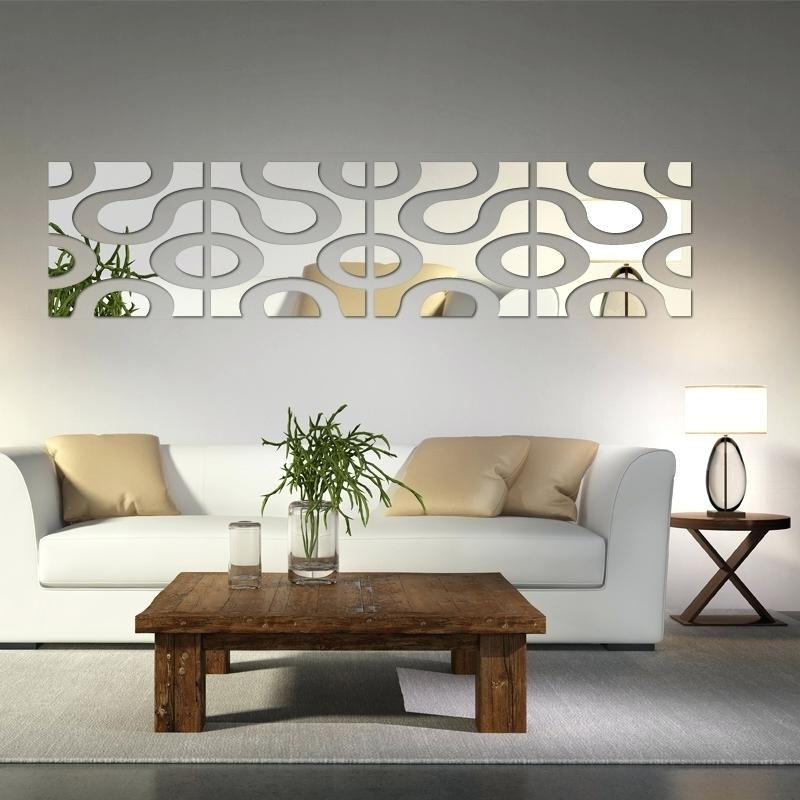 Well Liked Modern Mirrored Wall Art Pertaining To Mirror Wall Decals Hot New Large Acrylic Sticker Stickers Home Decor (View 15 of 15)