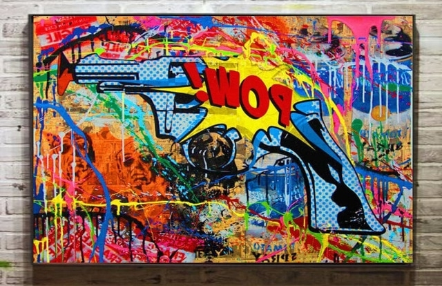 Well Liked Modern Untitled Abstract Graffiti Art Oil Painting Painting Wall Within Abstract Graffiti Wall Art (View 15 of 15)