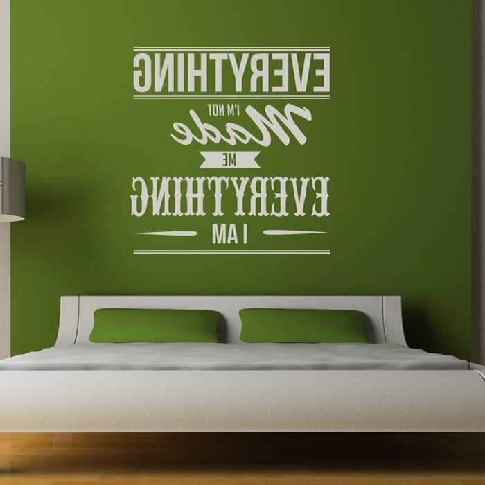 Well Liked Music Lyrics Wall Art With Kanye West Wall Stickers Everything I Am Wall Art (View 7 of 15)