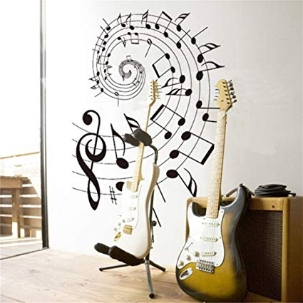 Well Liked Music Note Wall Art Decor With Amazon: Music Wall Decals Music Decor Music Note Wall Decals (View 14 of 15)