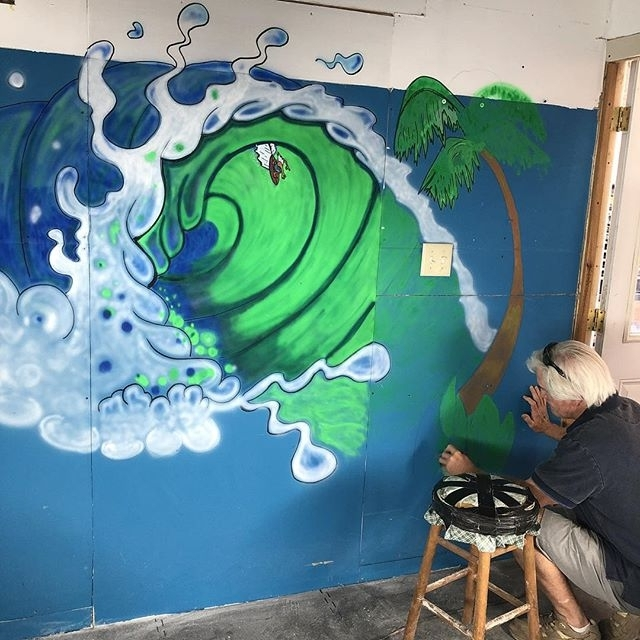 Well Liked My Friend Mark Finishing Up My Shaping Room Wall (View 13 of 15)