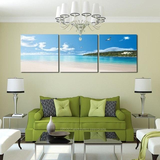 Well Liked New Arrivals Modular Poster Home Decor 3 Pieces/set Wall Art Canvas Regarding Coastal Wall Art Canvas (View 6 of 15)