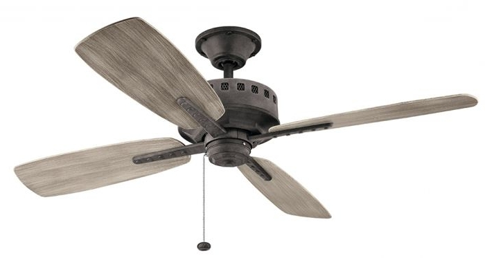Well Liked Outdoor Ceiling Fan, Kichl 310152 Wzc Kichler Lighting Group (View 14 of 15)