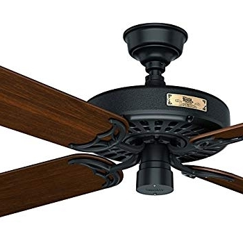 """Well Liked Outdoor Ceiling Fans By Hunter For Hunter 23845 Original 52"""" White Ceiling Fan With Five White Blades (View 3 of 15)"""