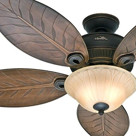 Well Liked Outdoor Ceiling Fans With Palm Blades Throughout Palm Blade Ceiling Fan Outdoor Ceiling Fan Light Kit Mount Tropical (View 5 of 15)