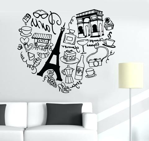 Well Liked Paris Wall Decals Wall Stickers For Bedrooms Paris Wall Decals Intended For Paris Vinyl Wall Art (View 15 of 15)