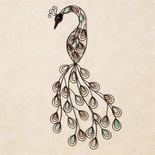Well Liked Peacock Metal Wall Art With Resting Peacock Metal Wall Art (View 14 of 15)