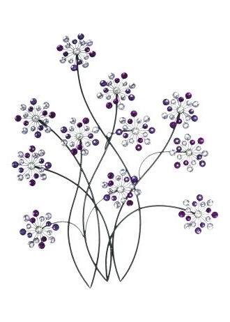 Well Liked Purple Flower Metal Wall Art Intended For Purple Flower Metal Wall Art Purple Metal Wall Decor Design And (View 7 of 15)