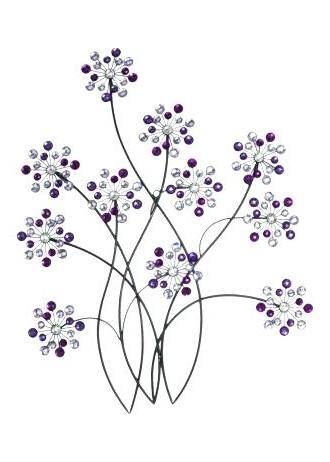 15 Ideas Of Purple Flower Metal Wall Art