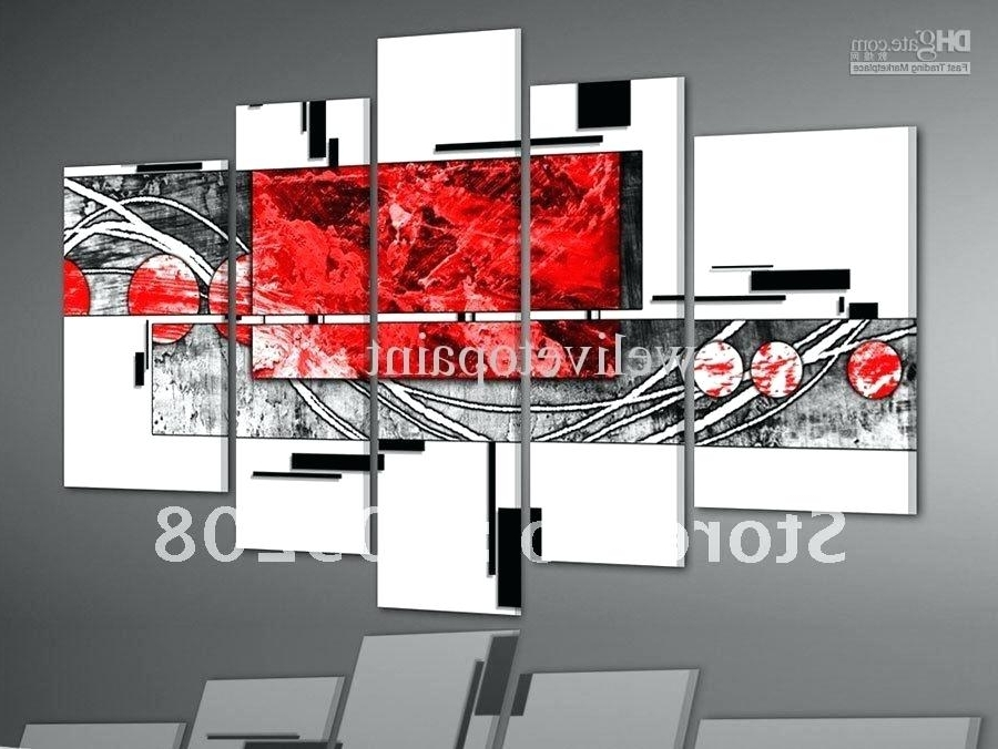 Well Liked Red And Black Wall Art Rectangular Shaped Black And Red Wall Art With Regard To Black And White Wall Art With Red (View 9 of 15)