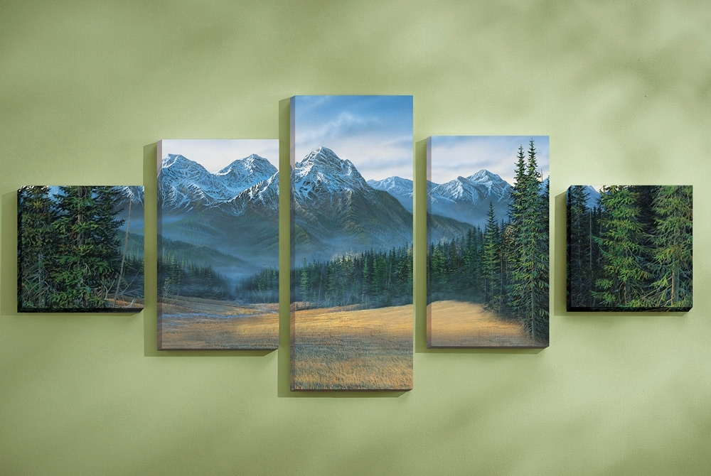 Well Liked Rocky Mountain Canvas Wall Art Set Of Awesome Websites Wall In Cheap Wall Art Sets (View 15 of 15)