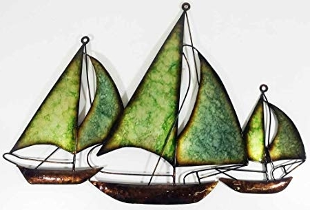 Well Liked Sailboat Metal Wall Art With Regard To New – Contemporary Metal Wall Art Decor Sculpture – Green Blue (View 15 of 15)