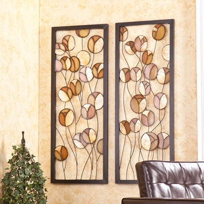 Well Liked Southern Enterprises Home Decor Abstract Metal/capiz Wall Panel 2Pc Throughout Southern Enterprises Abstract Wall Art (View 14 of 15)
