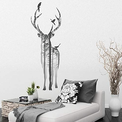 Well Liked Stag Wall Art Within Stag Wall Art: Amazon.co (View 7 of 15)