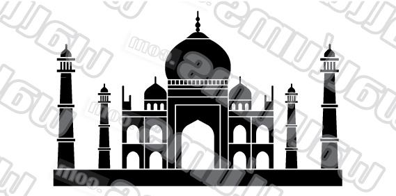 Well Liked Taj Mahal Wall Art Decal Sticker Inside Taj Mahal Wall Art (View 6 of 15)
