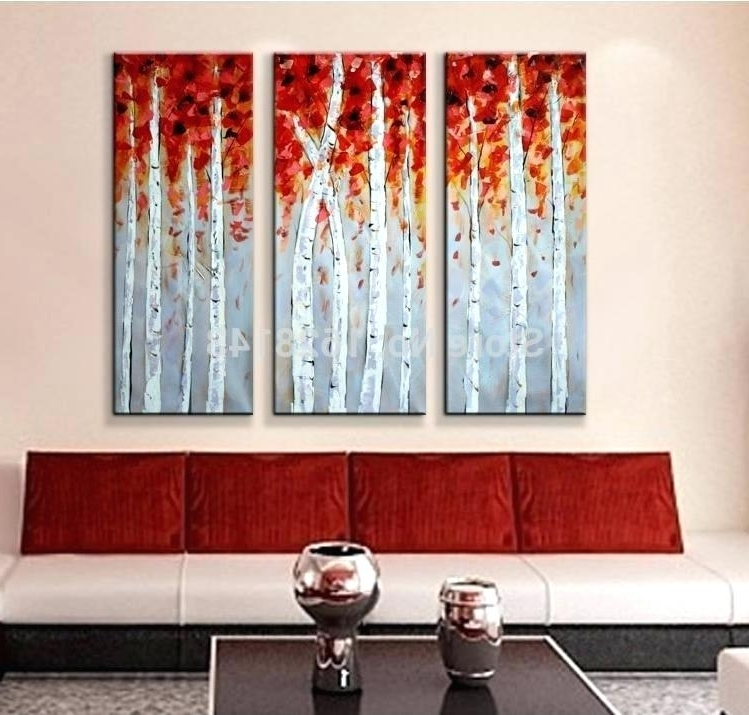 Well Liked Three Piece Canvas Wall Art Hand Made 3 Piece Canvas Wall Art White With Canvas Wall Art 3 Piece Sets (View 10 of 15)