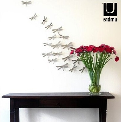 Well Liked Umbra 3D Wall Art Regarding Umbra Canada Dragonfly Genuine Original 3D Stereoscopic Bedroom Wall (View 15 of 15)