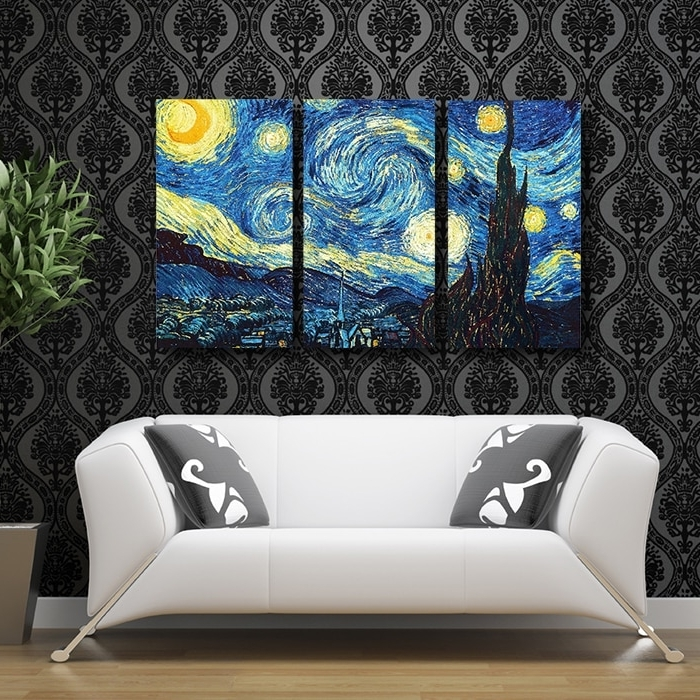 Well Liked Vincent Van Gogh Wall Art Within Printed Masters Starry Night Vincent Van Gogh Prints Reputation Oil (View 5 of 15)
