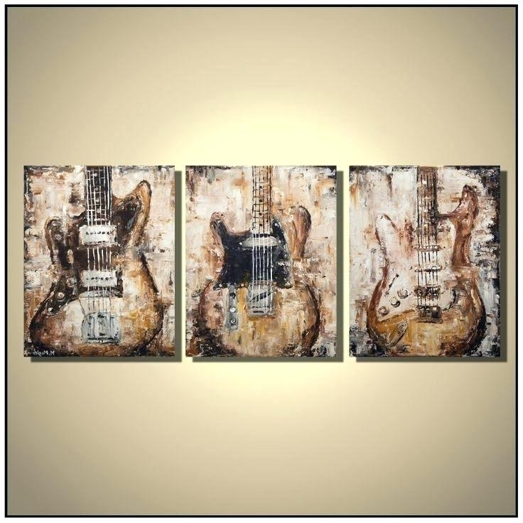 Well Liked Wall Art Guitar Canvas Wall Art Guitar – Vaughanbrosart Inside Guitar Canvas Wall Art (View 14 of 15)