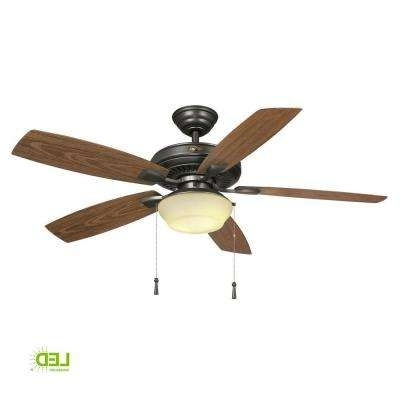 Well Liked Wet Rated Outdoor Ceiling Fans With Light With Wet Rated – Ceiling Fans – Lighting – The Home Depot (View 9 of 15)