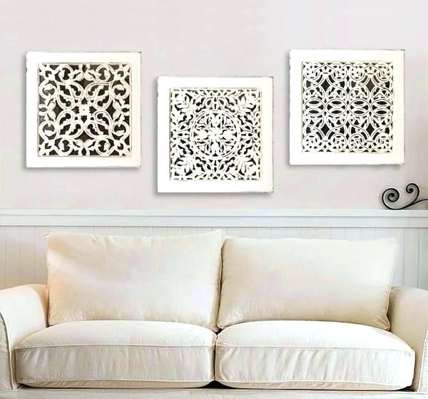 Well Liked Whitewashed Wall Decor White Wood Wall Decor Square Art Antique In White Wooden Wall Art (View 9 of 15)