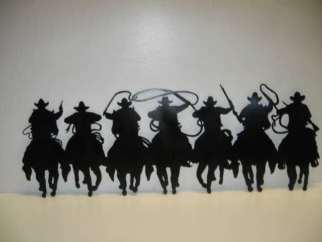 Western Metal Art Silhouettes 838 Best Crafts Of Interest Intended For Well Liked Western Metal Art Silhouettes (View 8 of 15)