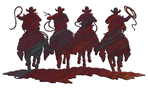 Western Metal Art Silhouettes Wall Art Design Ideas Western Metal Within Well Liked Western Metal Art Silhouettes (View 11 of 15)